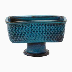 Vintage Stoneware Bowl with Foot by Stig Lindberg
