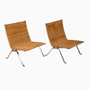 Vintage PK 22 Sessel von Poul Kjaerholm für E. Kold Christensen, 2er Set
