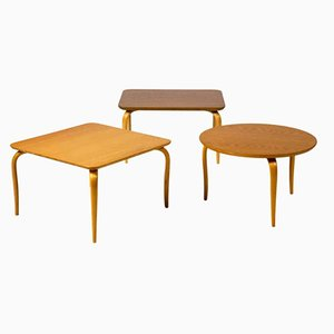 Tables d'Appoint par Bruno Mathsson pour Firma Karl Mathsson, Set de 3