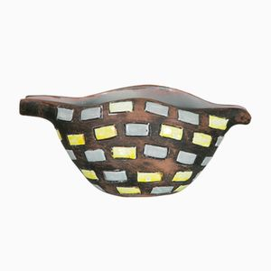 Italian Glazed Ceramic Bowl from Raymor, 1970s