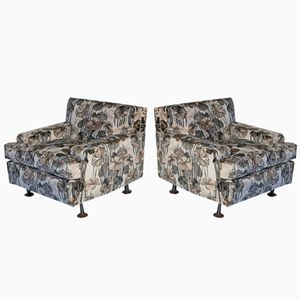 Vintage Square Armchairs by Marco Zanuso for Arflex, Set of 2