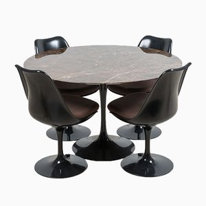 Marmor Tulip Esstisch von Eero Saarinen für Knoll International