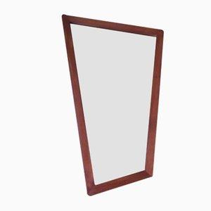 Asymmetrischer Dänischer Spiegel im Kubistischen Stil mit Rahmen aus Teakholz, 1950er