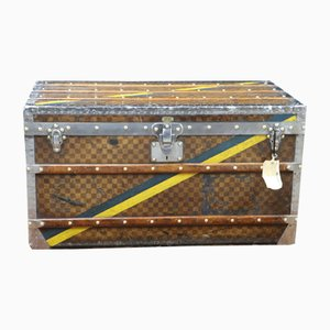 Steamer Trunk with Damier Canvas from Louis Vuitton, 1920s