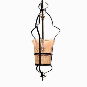 Lampada a sospensione antica Art Nouveau