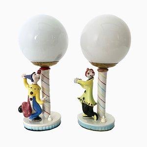 Lámparas de mesa italianas, años 50. Juego de 2