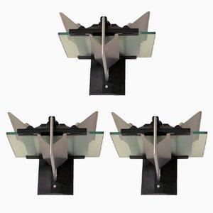 Wandlampen von Giovanni Grignani, 1980er, 3er Set