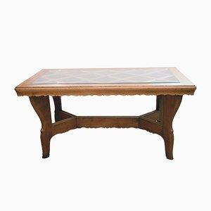 Tavolo fatto a mano in legno di quercia massiccio di Atelier Borsani, anni '40