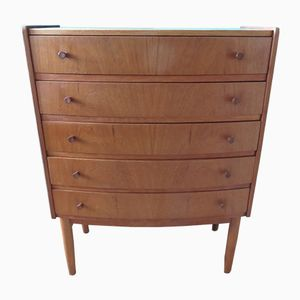 Mid-Century Danish Teak Veneer Chest of Drawers