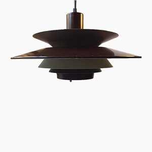 Vintage Danish Three-Tiered Pendant Light from Vitrika, 1970s