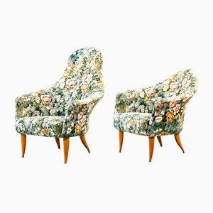 Swedish Adam Armchairs by Kerstin Hörlin-Holmquist for Nordiska Kompaniet, 1958, Set of 2