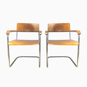 Vintage German B34 Cantilever Chairs by Marcel Breuer, Set of 2