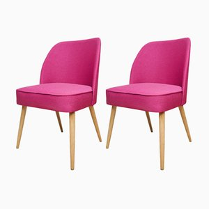 Small Pink Cocktail Chairs, 1960s, Set of 2