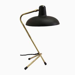 Lampada da tavolo Cocotte vintage nera, Francia, anni '50