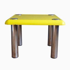 Mesa de centro de Bistró vintage amarilla de Joe Colombo para Zanotta