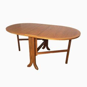 Table de Salle à Manger Mid-Century Ovale Pliable en Teck de Nathan