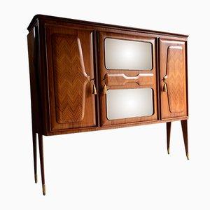 Mueble bar italiano de nogal de Vittorio Dassi, años 50