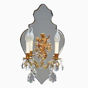 Applique a 2 braccia con candele, Francia, anni '50