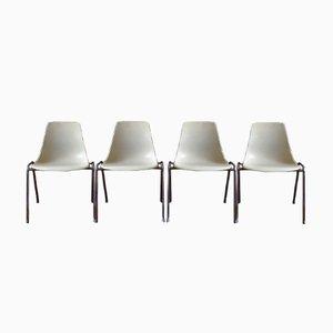 Mid-Century 224 Glasfaser Stühle von Georg Leowald für Wilkhahn, 4er Set