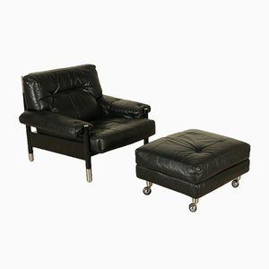 Vintage Sessel & Pouf von Carlo de Carli für Sormani