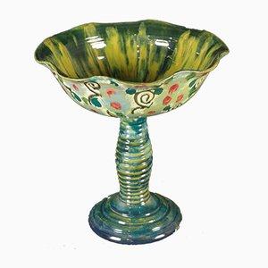 Grand Centre de Table Vintage en Céramique de La Salamandra, 1920s