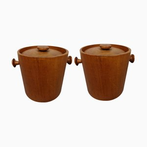 Teak Ice Buckets, 1960s, Set of 2
