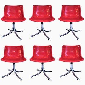 Italienische Stühle von Osvaldo Borsani für Tecno, 1970er, 6er Set