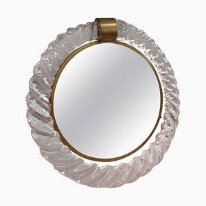 Miroir de Courtoisie Vintage en Verre de Murano