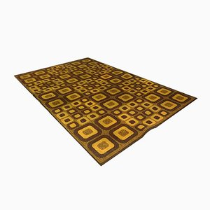 German Op-Art Carpet with Abstract Graphic Pattern from Magura, 1960s