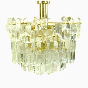 Lámpara de araña Palazzo austriaca modernista de vidrio de J. T. Kalmar para Kalmar, años 60