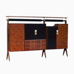 Alacena Mid-Century con mueble bar de Vittorio Dassi para Dassi & Figli