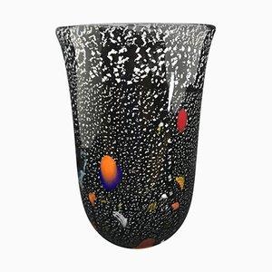 Jarrón italiano de cristal de Murano, años 80