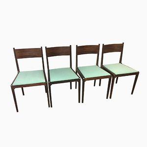 Esszimmerstühle von ISA Bergamo, 1960er, 4er Set