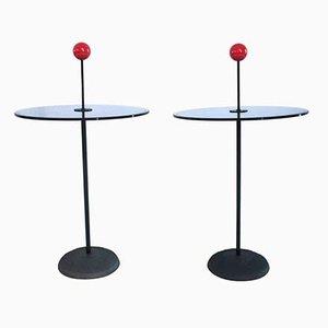 Tables d'Appoint par Pierluigi Cerri pour Fontana Arte, 1980s, Set de 2