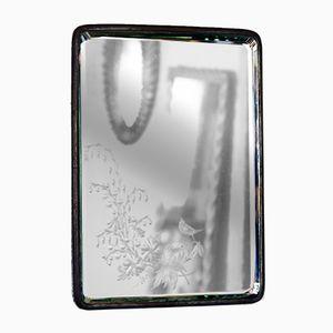 Espejo de barbero vintage con grabados, años 20