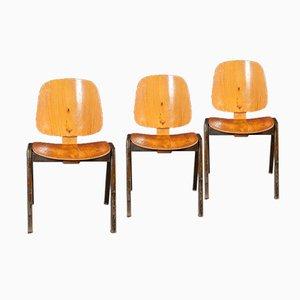 Sedie vintage in legno curvo di Thonet, set di 3