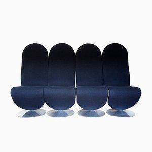 Sedie System 1-2-3 di Verner Panton per Firtz Hansen, 1973, set di 4