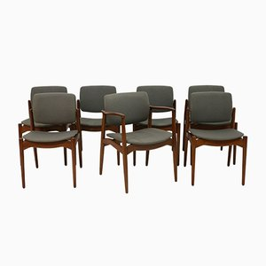Dining Chairs & Armchair by Erik Buch for Orum Mobler, Set of 7