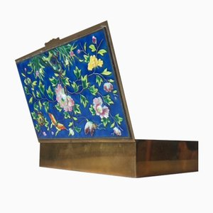 Caja china Mid-Century con esmalte cloisonné
