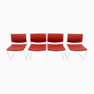 Chaises de Salon JK 770 en Acier & Cuir pr Jørgen Kastholm pour Kill International, 1970, Set de 4