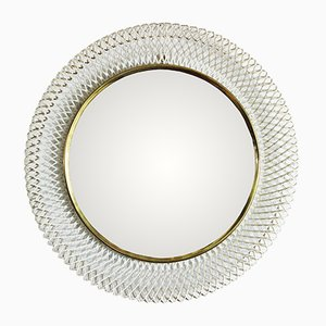 Mid-Century Braided Metal Mirror