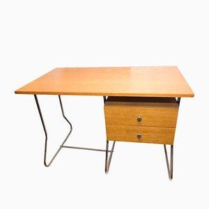 Verchromter Tschechischer Mid-Century Schreibtisch von Kovona, 1950er