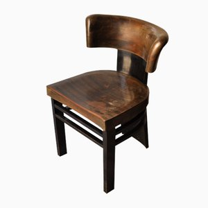 Sedia in legno colorato di Vittorio Valabrega, anni '30