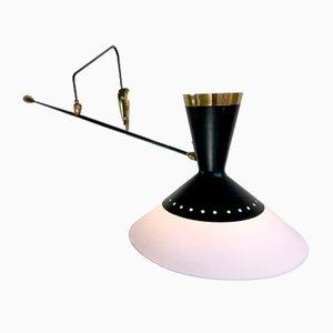 Lámpara de pared francesa de Arlus, años 50