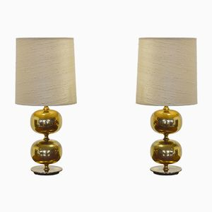 Vintage Brass Table Lamps by Henrik Blomqvist for Tranås Stilarmatur, Set of 2