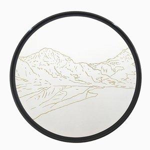 Weißhorn Golden Landscapes Wandteppich mit Goldfaden von Philippe Cramer