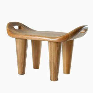 Baar Stool in Walnut by Philippe Cramer