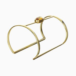 Yellow Gold Citrine Cuff by Philippe Cramer, 2001
