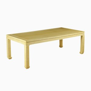 Vintage Tisch aus Holz & Elfenbein Imitat