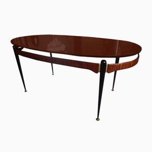 Mesa de comedor de palisandro de Osvaldo Borsani, 1955